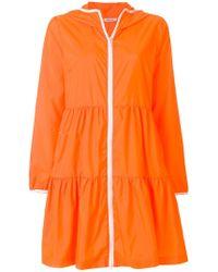 P.A.R.O.S.H. - Zipped Hooded Raincoat - Lyst