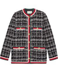 Gucci - Tweed Jacket - Lyst