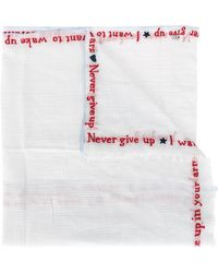 Faliero Sarti - Embroidered Micro Check Scarf - Lyst