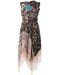 Antonio Marras - Floral Print Flared Dress - Lyst