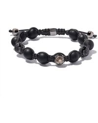 Shamballa Jewels - 18kt Rose Gold, Diamond & Onyx Beaded Braided Bracelet - Lyst