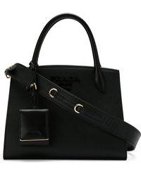 Prada - 1ba1562erxvooo F0002 Leather/fur/exotic Skins->calf Leather - Lyst