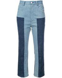 Rachel Comey - Colour Block Cropped Trousers - Lyst