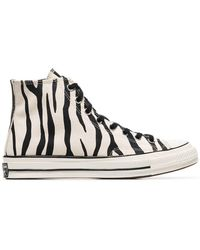 5b99440c3f59 Converse - 1970s Chuck Taylor All Star Zebra-print Canvas High-top Sneakers  -