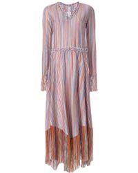 Marco De Vincenzo - Striped Fringed Dress - Lyst