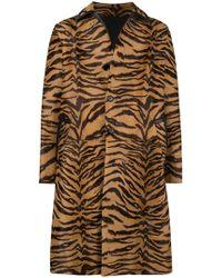 Versace - Tiger Striped Coat - Lyst