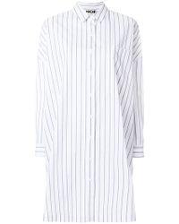 Hache - Striped Shirt Dress - Lyst