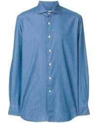 Bagutta - Long Sleeve Denim Shirt - Lyst