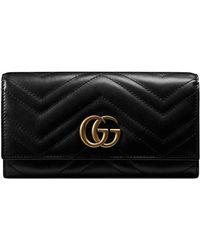 84474168711397 Gucci Gg Marmont Card Case Wallet in Black - Save 37% - Lyst