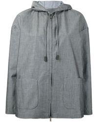 Eleventy - Patch Pockets Hooded Jacket - Lyst