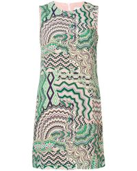 M Missoni - Geometric Print Shift Dress - Lyst