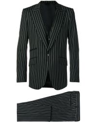 Dolce & Gabbana - Pinstriped Three-piece Suit - Lyst