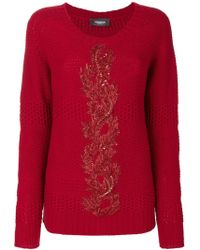 Jo No Fui - Embroidered Knit Jumper - Lyst