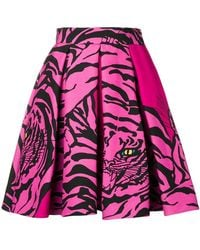 Valentino - Printed Silk And Wool Skirt - Lyst