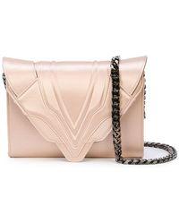 Elena Ghisellini - Metallic Clutch Bag - Lyst