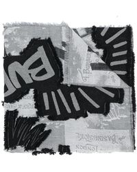 Burberry - Graffiti Print Scarf - Lyst