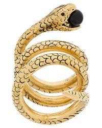 Saint Laurent - Snake Ring - Lyst