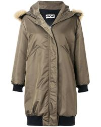 Hache - Hooded Parka Coat - Lyst