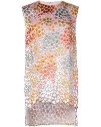 Adam Lippes - Top estampado asimétrico estilo túnica - Lyst