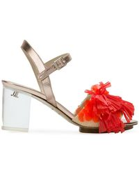 Delpozo - Fringed Open-toe Sandals - Lyst