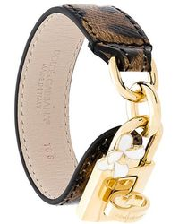 Dolce & Gabbana - Leopard Print Lock Bracelet - Lyst