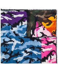 Valentino - Garavani Camouflage Scarf - Lyst