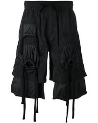 KTZ - Embroidered Gathered Shorts - Lyst