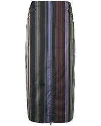 AALTO - Striped Straight Skirt - Lyst