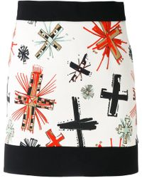Fausto Puglisi - Graphic Cross Print Skirt - Lyst