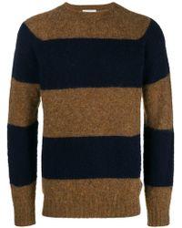 Officine Generale - Striped Knit Sweater - Lyst