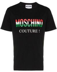Moschino - Italian Flag Logo T-shirt - Lyst
