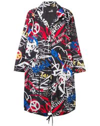 Love Moschino - Graffiti Logo Parka Coat - Lyst