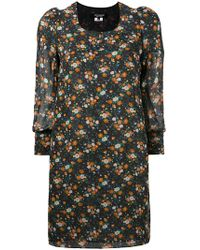 Junya Watanabe | Cropped Sleeve Floral Shift Dress | Lyst