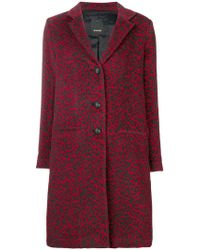 Pinko - Single Breasted Coat - Lyst