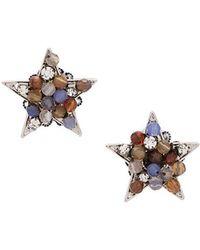 Rada' - Beaded Star Earrings - Lyst