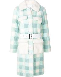 Saks Potts - Checked Belt Coat - Lyst
