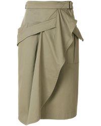Alberta Ferretti - Draped Wrap Skirt - Lyst