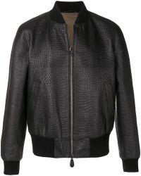 Roberto Cavalli - Textured Bomber Jacket - Lyst