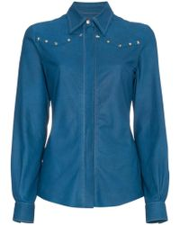SKIIM - Leather Shirt With Studs - Lyst