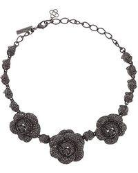 Oscar de la Renta - Gardenia Pave Necklace - Lyst