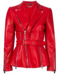 Alexander McQueen | Zipped Biker Jacket | Lyst