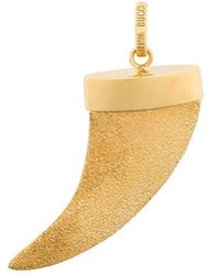 Carolina Bucci - 18kt Yellow Gold Florentine Finish Corno Pendant - Lyst