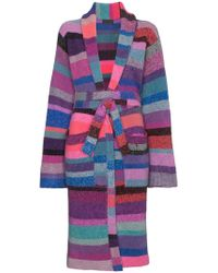 The Elder Statesman - Knitted Stripe Belted Robe - Lyst