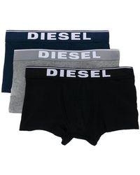 DIESEL - Three-pack Umbx-damien Boxers - Lyst
