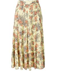 Erika Cavallini Semi Couture - High-waisted Floral Skirt - Lyst