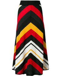 MSGM - Striped Knitted Skirt - Lyst