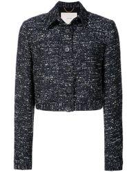 Adam Lippes - Cropped tweed jacket - Lyst