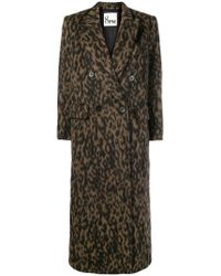 8pm - Leopard Print Double Breasted Coat - Lyst