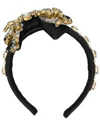Dolce & Gabbana - Crystal Embellished Head Band - Lyst