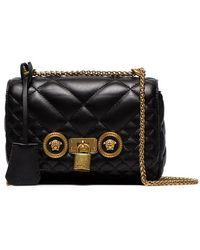 30303469 Versace Mini Pouch Shoulder Bag in Black - Lyst